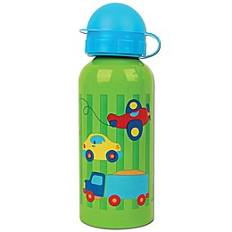 Stephen Joseph® Transportation Stainless Steel Water Bottle in Green