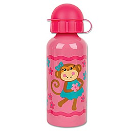 Stephen Joseph® Monkey Stainless Steel Water Bottle in Pink