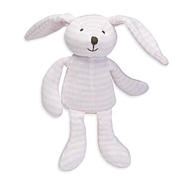 Elegant Baby® Striped Plush Bunny in Pink