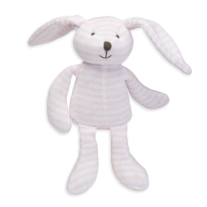 Alternate image 1 for Elegant Baby® Striped Plush Bunny in Pink