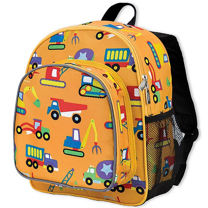 Alternate image 1 for Olive Kids Under Construction Pack 'N Snack Backpack in Yellow