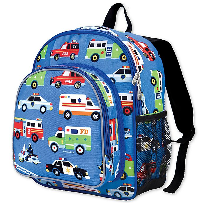 Alternate image 1 for Olive Kids Heroes Pack 'N Snack Backpack in Blue