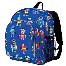 Olive Kids Robots Pack 'N Snack Backpack in Blue