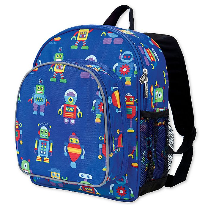 Alternate image 1 for Olive Kids Robots Pack 'N Snack Backpack in Blue