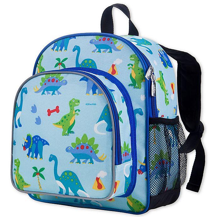 Alternate image 1 for Olive Kids Dinosaur Land Pack 'N Snack Backpack in Blue