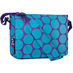 Wildkin Big Dot Aqua Kickstart Messenger Bag in Purple