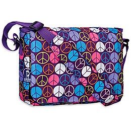 Wildkin Peace Signs Kickstart Messenger Bag in Purple