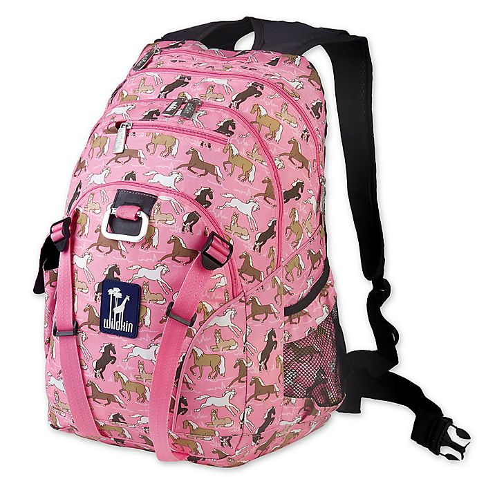 Alternate image 1 for Wildkin Serious Horses Backpack in Pink