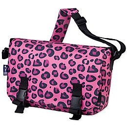 Wildkin Leopard Jumpstart Messenger Bag in Pink