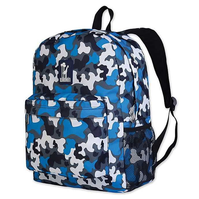 Alternate image 1 for Wildkin Camo Crackerjack Backpack in Blue