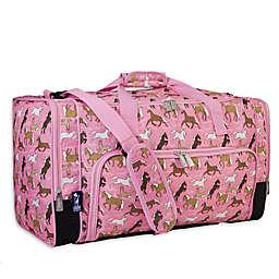 Wildkin Weekender Duffel Bag in Pink Horses