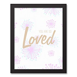 Designs Direct Little Lady Starburst You Are Loved 11-Inch x14-Inch Canvas Wall Art in Pink