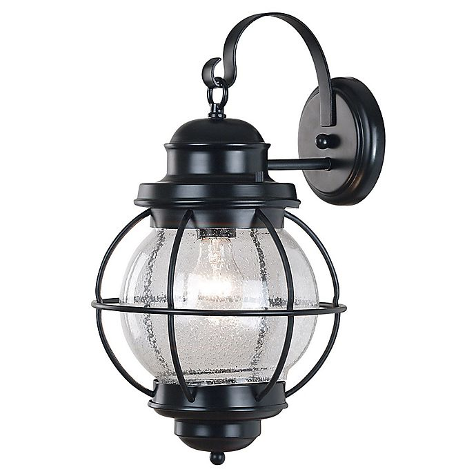Alternate image 1 for Kenroy Home Hatteras 17-Inch Outdoor Wall Lantern In Black