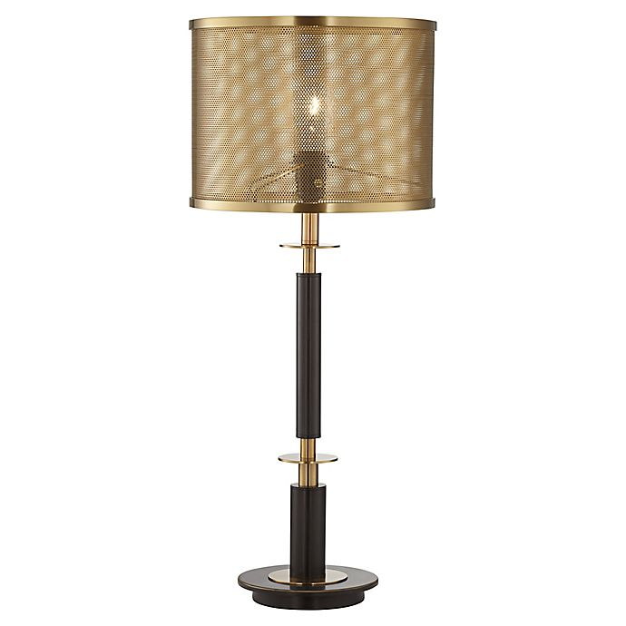 Alternate image 1 for Pacific Coast® Lighting Column Table Lamp with Perforated Shade in Bronze/Brass