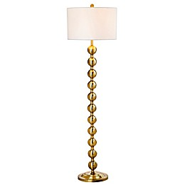Safavieh Reflections 1-Light Floor Lamp in Brass