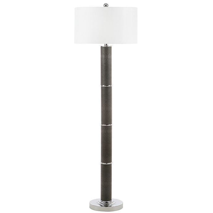 Safavieh Marcello 1 Light Floor Lamp In Snake Skin Grey