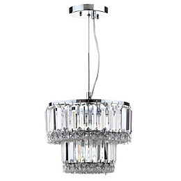 Safavieh Lulu 4-Light Chandelier in Chrome/Clear