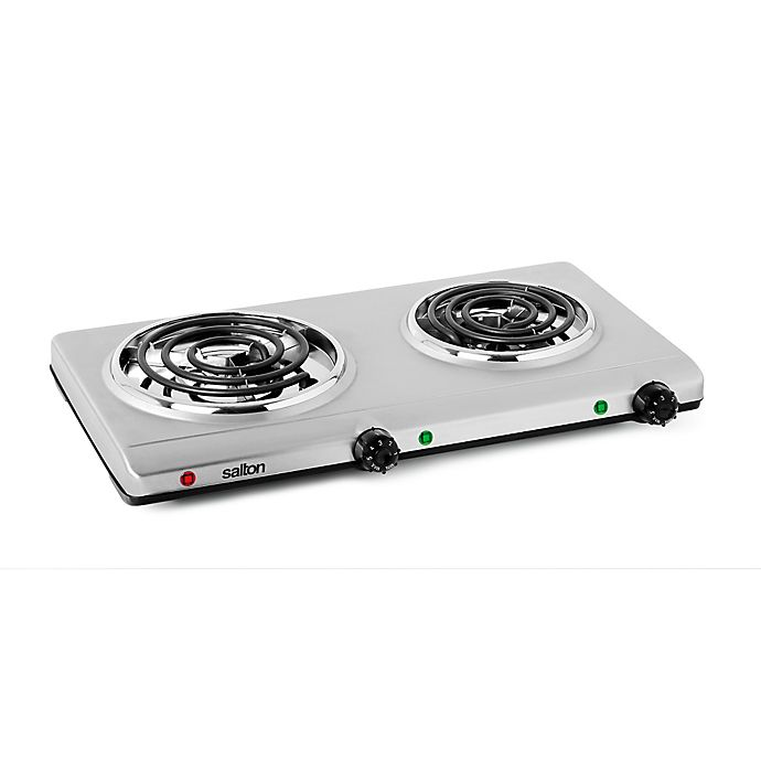 Alternate image 1 for Salton Stainless Steel Double Coil Portable Cooking Range by Toastess