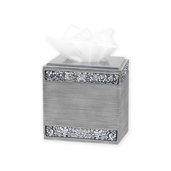 Alternate image 1 for India Ink Omni Boutique Tissue Box Holder in Pewter