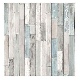 Brewster Home Fashions Barn Board Thin Plank Wallpaper in Grey