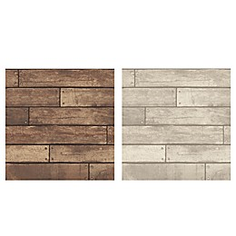 Brewster Nailhead Plank Wallpaper