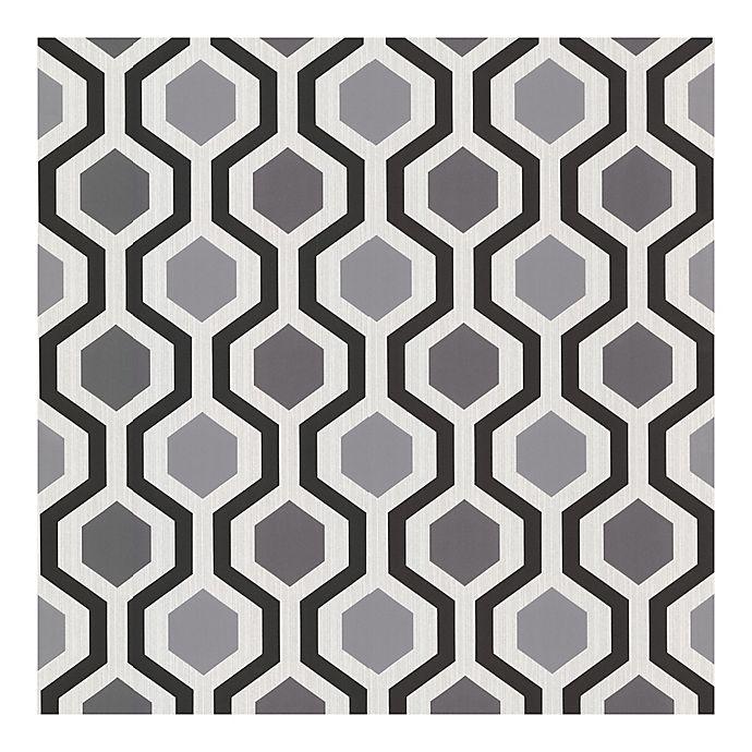 Alternate image 1 for Marina Modern Geometric Wallpaper in Black