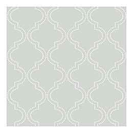 NuWallpaper™ Quatrefoil Peel & Stick Wallpaper in Grey