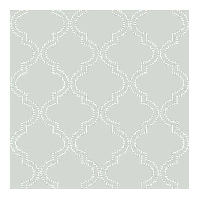 Alternate image 1 for NuWallpaper™ Quatrefoil Peel & Stick Wallpaper in Grey