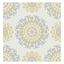 Nuwallpaper™ Suzani Peel And Stick Wallpaper in Yellow