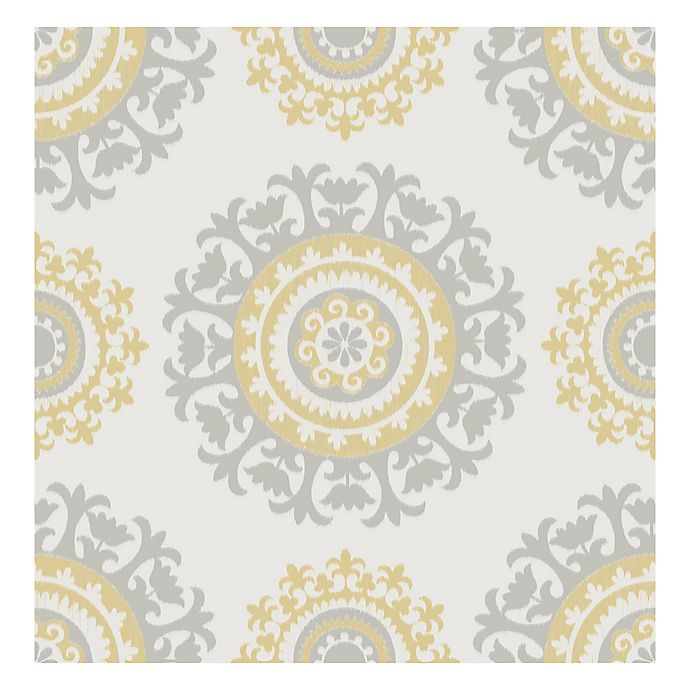 Nuwallpaper Suzani Peel And Stick Wallpaper In Yellow Bed Bath Beyond
