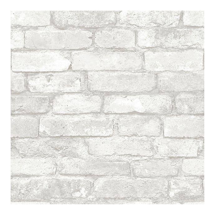 Alternate image 1 for Nuwallpaper™ Brick Peel And Stick Wallpaper in Grey