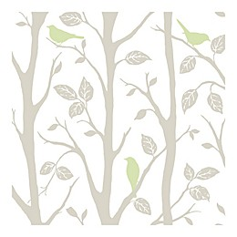Nuwallpaper™ Sitting In A Tree Peel And Stick Wallpaper in Grey