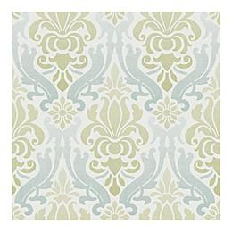 Nuwallpaper™ Nouveau Damask Peel And Stick Wallpaper in Green