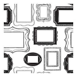 NuWallpaper™ Photo Opp Frames Peel & Stick Wallpaper in Black/White