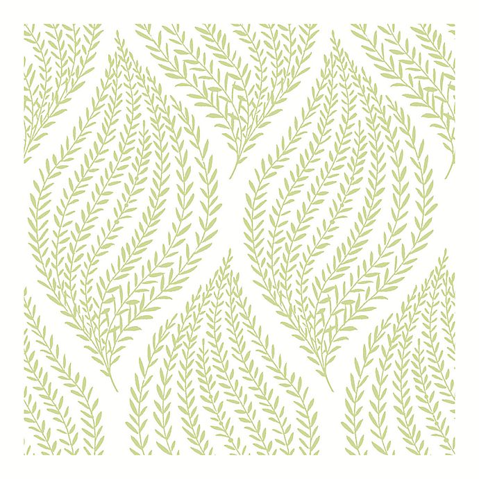 Nuwallpaper Fern Lime Peel And Stick Wallpaper In Lime Green Bed Bath Beyond