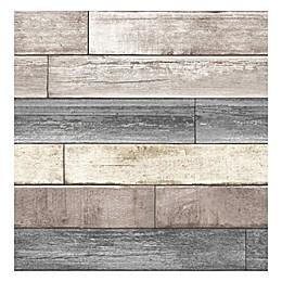 NuWallpaper™ Reclaimed Wood Plank Peel & Stick Wallpaper in Natural