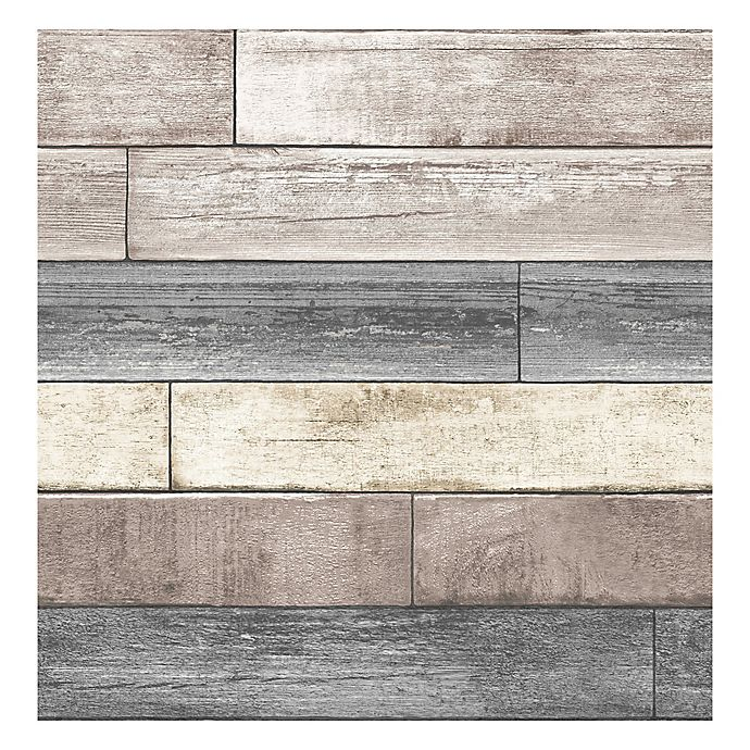 Nuwallpaper Reclaimed Wood Plank L Stick Wallpaper In