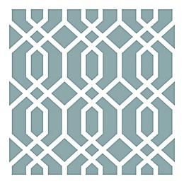NuWallpaper™ Montauk Lattice Hemlock Peel & Stick Wallpaper in Blue
