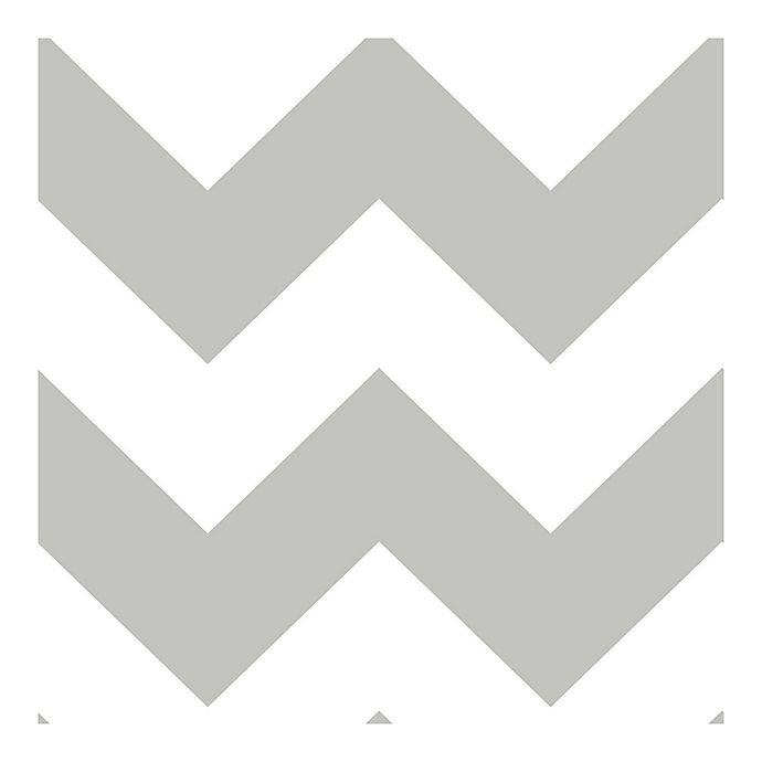Nuwallpaper Ziggy Chevron Peel Stick Wallpaper In Grey Bed Bath Beyond
