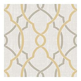 NuWallpaper™ Sausalito Peel & Stick Wallpaper in Taupe/Yellow