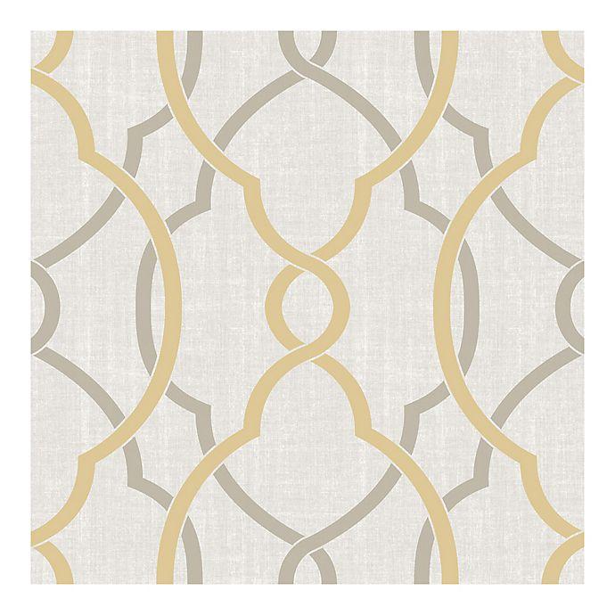 Alternate image 1 for NuWallpaper™ Sausalito Peel & Stick Wallpaper in Taupe/Yellow