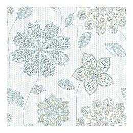 Nuwallpaper™ Gypsy Floral Peel & Stick Wallpaper in Aqua