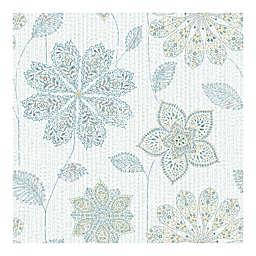 Nuwallpaper™ Gypsy Floral Peel And Stick Wallpaper in Aqua