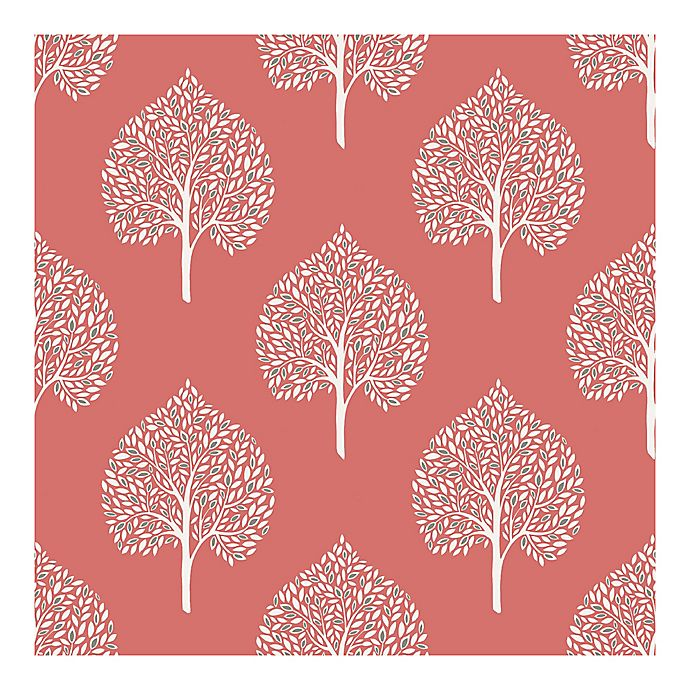 Alternate image 1 for Nuwallpaper™ Grove Peel And Stick Wallpaper in Coral