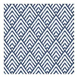 Nuwallpaper Arrowhead Peel And Stick Wallpaper in Deep Blue