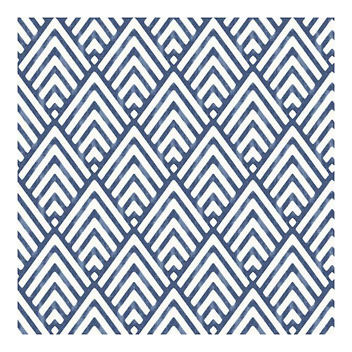 Alternate image 1 for Nuwallpaper Arrowhead Peel And Stick Wallpaper in Deep Blue