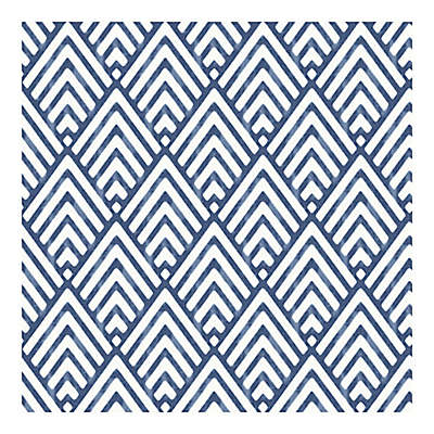 Nuwallpaper Arrowhead Peel And Stick Wallpaper in Deep Blue