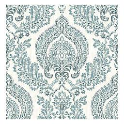 Nuwallpaper™ Kensington Damask Peel & Stick Wallpaper in Blue