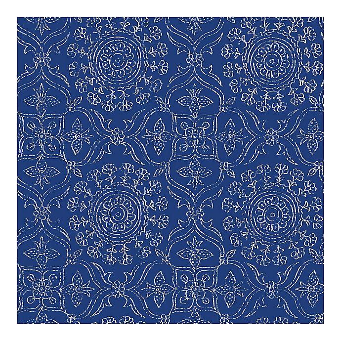 Alternate image 1 for NuWallpaper™ Byzantine Peel & Stick Wallpaper in Cobalt Blue