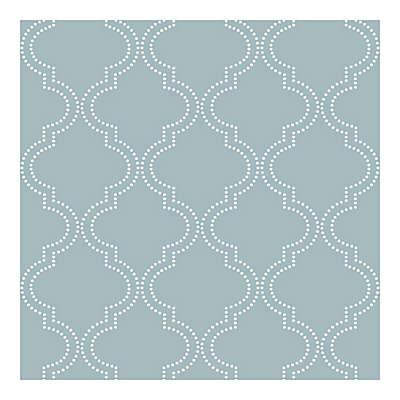 NuWallpaper™ Quatrefoil Peel & Stick Wallpaper in Slate Blue